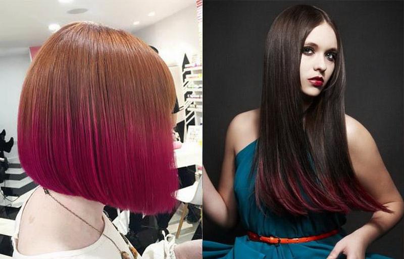 Двойное окрашивание волос: особенности и виды