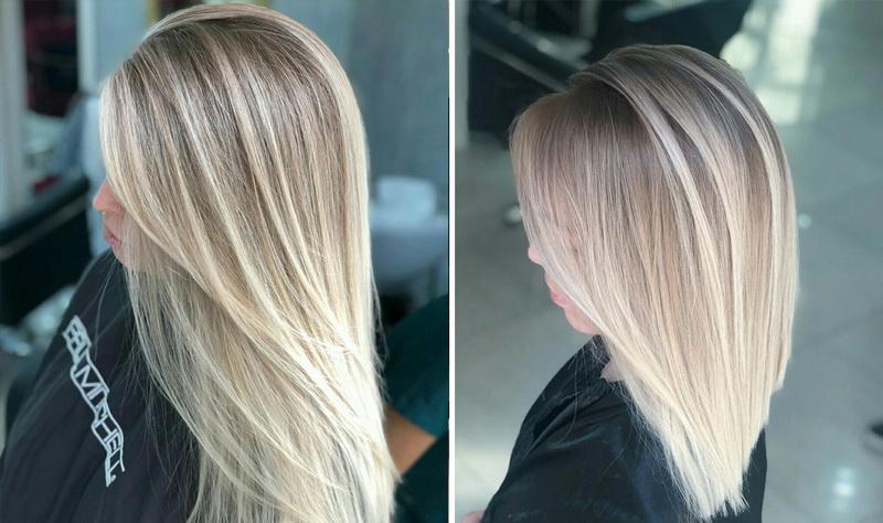 Модные техники окрашивания для блонда на средние волосы в 2021 году
